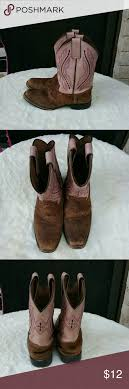 s justin boots size 12 justin pink brown boots size 12 1 2 pink brown of