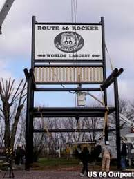 Big Rocking Chair In Texas World U0027s 2nd Largest Rocking Chair Route 66 Red Rocker Fanning