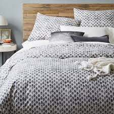 What Comes In A Duvet Set Organic Stamped Dots Duvet Cover Shams West Elm