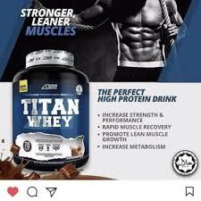 titan whey protein health beauty skin bath body on carousell
