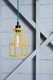 Cage Light Pendant Etsy Vintage Industrial Lighting Best Bright Idea Images On