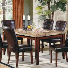 Marble Dining Room Tables Steve Silver Montibello Marble Top Rectangular Dining Table