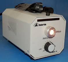 microscope fiber optic light source stocker yale imagelite model 20 microscope fiber optic light source