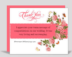 wedding wishes reply thank you messages for the congratulations 365greetings