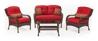 4 piece patio furniture sets amazon com la z boy outdoor bristol resin wicker patio furniture