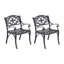 Biscayne Patio Furniture by Shop Home Styles Biscayne 2 Count Black Aluminum Patio Dining