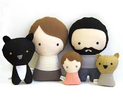 handmade personalized family with stuffed fabric doll