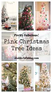pretty pink christmas tree decorations and pink holiday decor