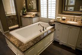 Dark Cabinets Light Countertops Dark Marble Countertops Over White Wood Cabinetry Match The Twin