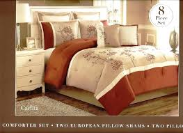 Comforter Set Uk Rust Coloured Duvet Covers Rust Duvet Covers 8 Pc Embroidered
