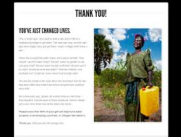 charity donation letter thank you who s doing it right donor relations guru this is the type of report they send you once your money goes into the field and gives people clean water it demonstrates impact one gift at a time
