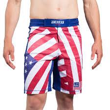 Mens Flag Shorts American Jiu Jitsu Flag Shorts American Jiu Jitsu