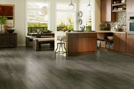 kitchen floor gray laminate wood flooring glass hanging pendant