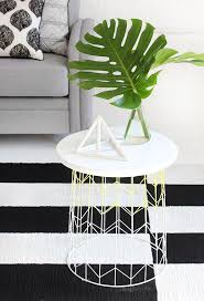 wire and wood basket side table diy wire basket side table craft diy pinterest wire basket