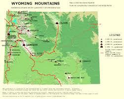 Sheridan Wyoming Map Wyoming P2000 Peak List