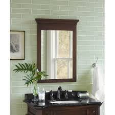 Wood Framed Bathroom Mirrors by White Framed Bathroom Mirrors All Mirrors Wayfair