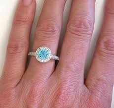 zircon engagement rings blue zircon ring with halo from myjewelrysource gr 1069