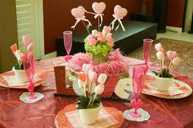 Valentine Decorations For The Table by Decorations Cute Pink Flower Arrangement With Love Ball Stick