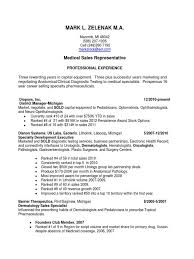 Resume Medical Representative Resume Format For Medical Representative Pdf Eliolera Com
