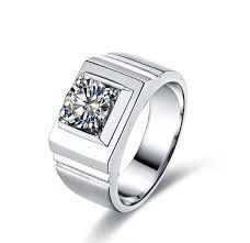 aliexpress buy 2ct brilliant simulate diamond men 1 carat genuine white gold classic smart simulate diamond