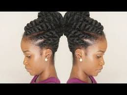 what is a marley hairdos flat twist updo using marley braiding hair summer protective
