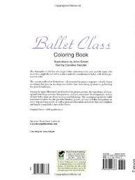 ballet class coloring book dover fashion coloring book john