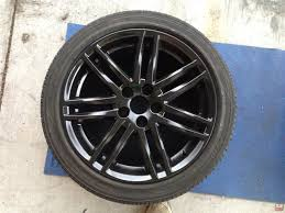 diy how to paint your stock wheels gloss black scionlife com