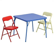 children s card table and folding chairs furniture kids colorful 3 piece folding dining table and chair set