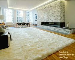 Fur Area Rug Gray Silver Shaggy Luxury Faux Fur Area Rug Flokati Rectangle