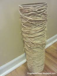 What To Put In Large Floor Vases Frugal Ain U0027t Cheap Raffia And Oatmeal