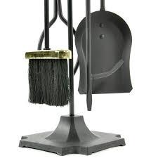 5 piece black and brass fireplace tool set f t51030pk