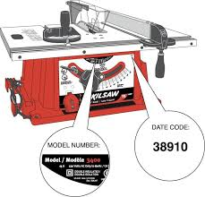 Ridgid Table Saw Parts Cpsc Robert Bosch Tool Corp Announce Recall Of Skil Table Saws