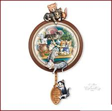 kitchen cat art wall clock 01 03781 001 82 50