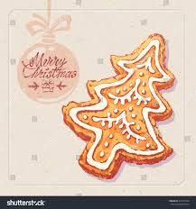 hand drawn sketch christmas cookie on stock vector 512304778