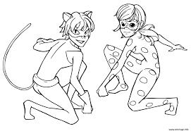 Coloriage Miraculous Tales Of Ladybug Chat Noir Enfants dessin