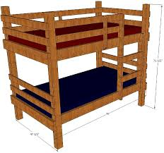 Bunk Bed Plans Twin Children Adults Rustic - Rustic wood bunk beds