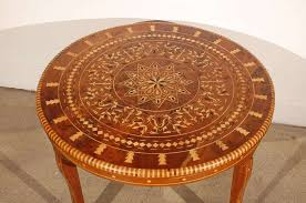 moroccan round coffee table moroccan round coffee table inlaid marquetry for sale at 1stdibs