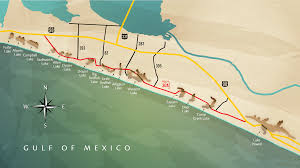 Map Of 30a Florida by Justin Moro