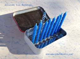 altoids tin menorah bible belt balabusta