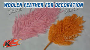crafts for decorating your home diy woolen feather for decoration jk arts 246 youtube