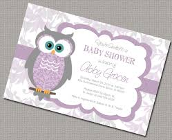 purple and grey baby shower invitations baby baby shower invitations with owls gray purple baby