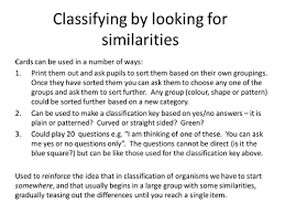 classification of living things card sort activity by jimbo1708