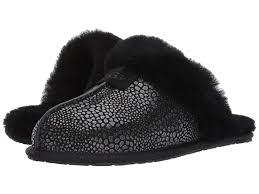 ugg scuffette ii slippers sale lyst ugg scuffette ii glitzy in black