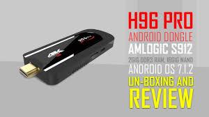 amazon firestick killer h96 pro android 7 1 tv stick s912