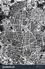 Madrid Map Madrid Black White Map Stock Vector 274567769 Shutterstock