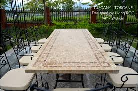 Tuscan Style Patio Furniture Granite Top Patio Table And Modern Style Stone Top Dining Tables