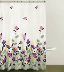 Pink And Grey Shower Curtain by Dkny Botanical Nature 100 Cotton Shower Curtain Floral Branches