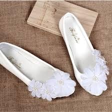 ballerine blanche mariage livraison gratuite ivoire dentelle blanche fleur chaussures de