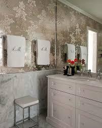 bathroom with wallpaper ideas silver bathroom wallpaper design ideas