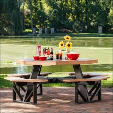Build A Heavy Duty Picnic Table by Exteriors Walk In Octagon Picnic Table Plans Free Modern Picnic